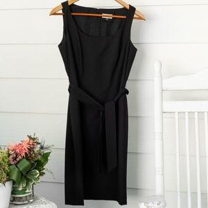 Tahari Classics Belted Dress in Black